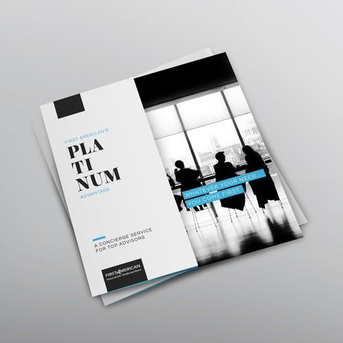 Sophisticated brochure for Platinum program