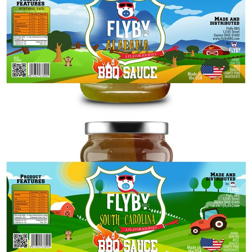 Label design of BBQ sauces