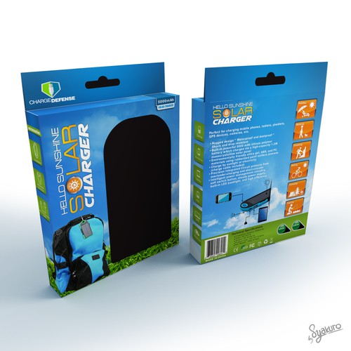 Mobile Device Hello Sunshine Solar Battery Charger Packaging For Outdoor Enthusiasts