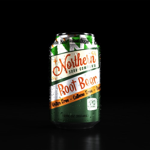 Front of rootbeer can