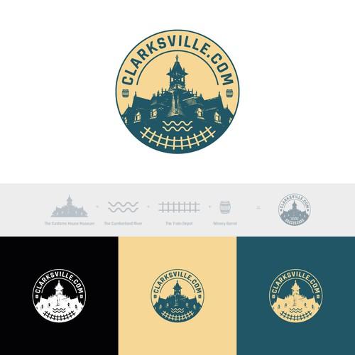 Logo concept for Clarksville.com