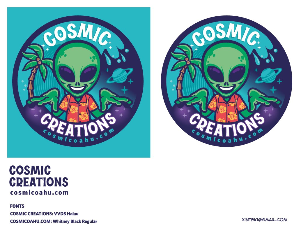 Alien and/or Space themed sticker