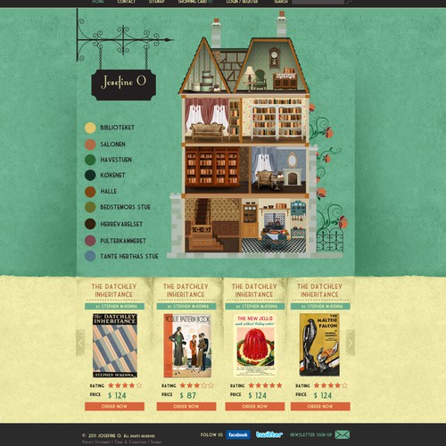 Online Antiquarian Bookshop with a cool design