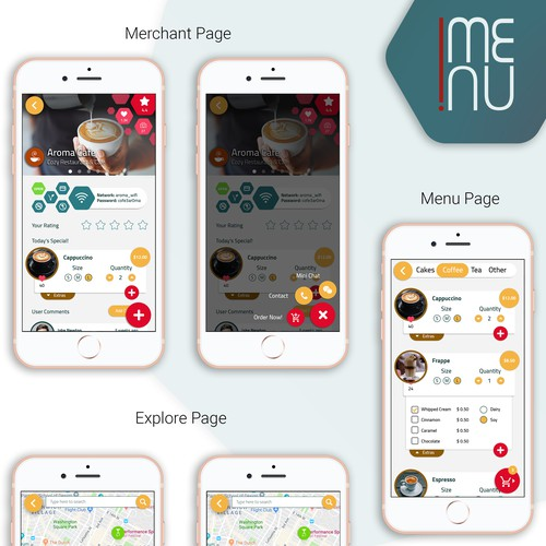 Mobile App for Ordering Food Online