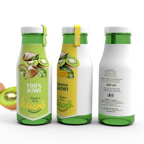 sleeve design for kiwo smoothies bottle