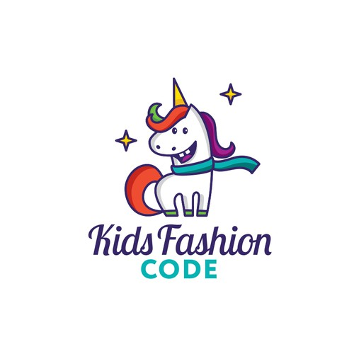 Cute logo for children's clothing brand
