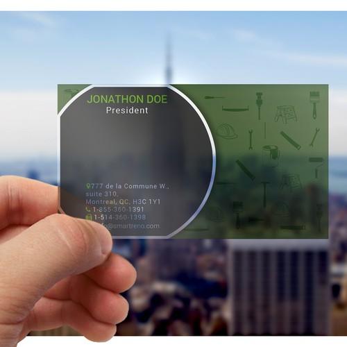 transparent smart and professional design business card