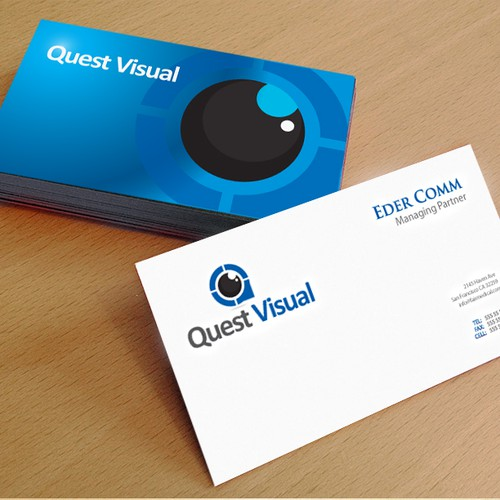 Quest Visual needs a new logo and business card