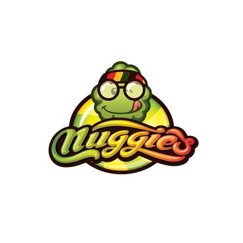 Yummy chocolate candy logo that appeals to stoners