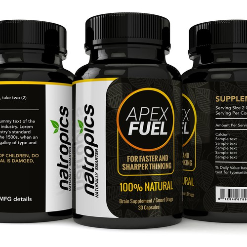 Supplement Label Design for a Leading Natural Nootropics Brand