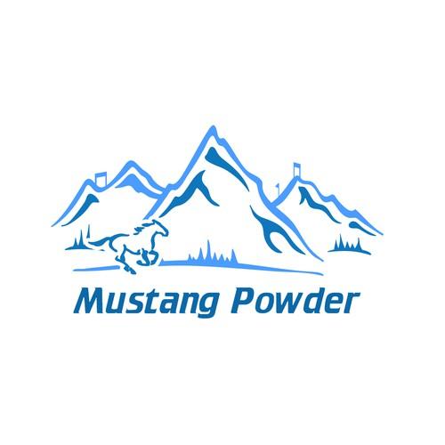 Mustang Powder Graphic Design