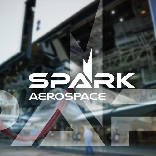 Logo design concept for Spark Aerospace.