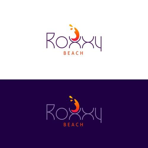 Roxxy Beach logo design