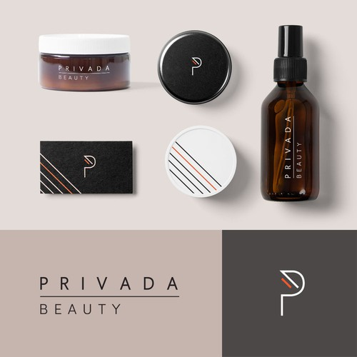 Logo concept and packaging for beauty company