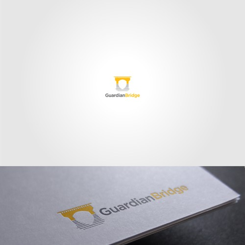 Negative Space design for Guardian Bridge Logo
