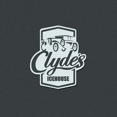 Clyde's Icehouse barbecue restaurant logo design