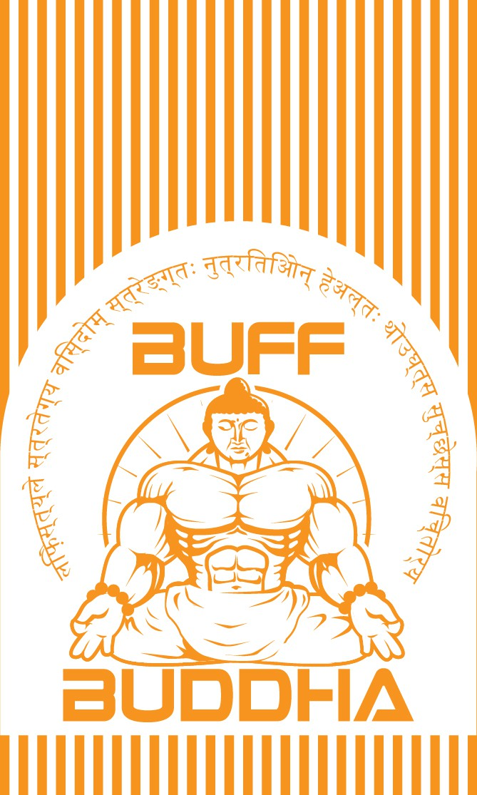 print or packaging design for Buff Buddha