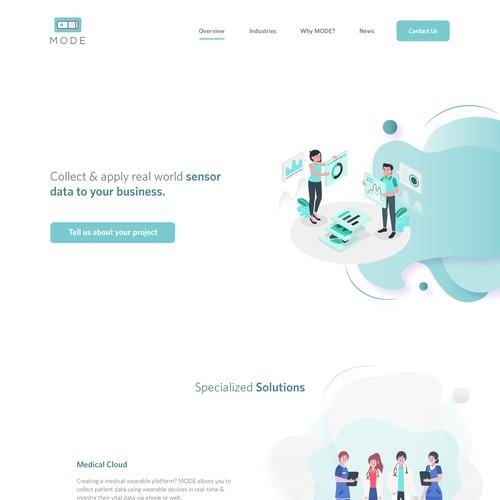 IoT Startup Landing Page