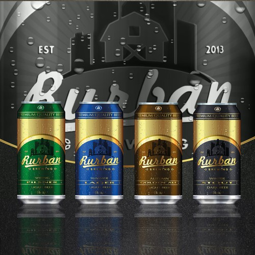 Beer Can sleeve design for Rurban Brewing