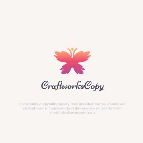 Creative Unique Butterfly Logo For Boutique