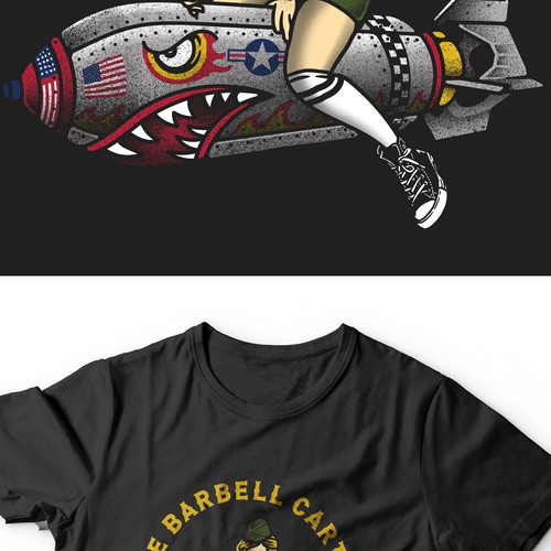 tshirt design for the barbell cartel
