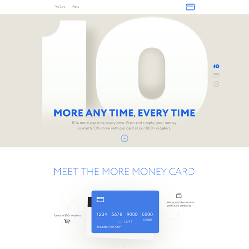 Credit Card prelaunch Page
