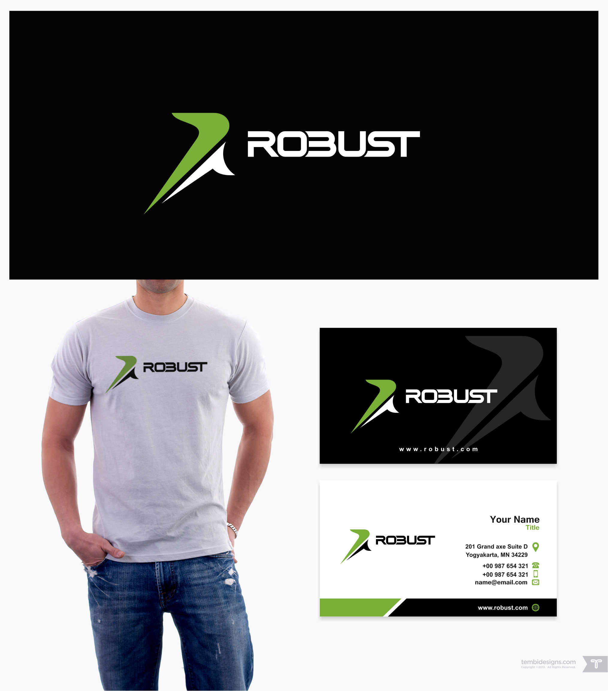 A ROBUST logo and business card is needed for Robust