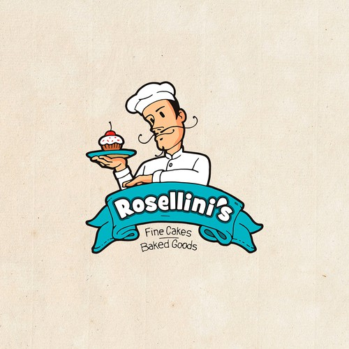 The logo for bakery focused on making the finest cakes and baked goods