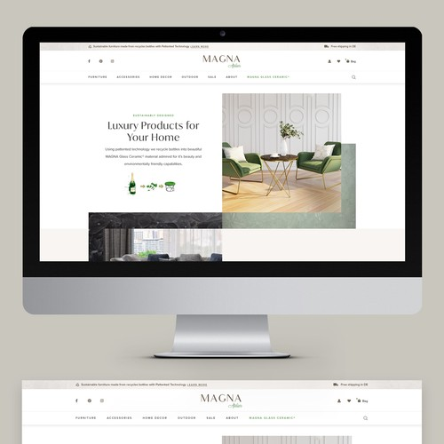 MAGNA Atelier e-Commerce Design