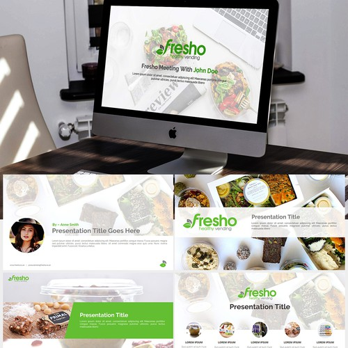 Healthy Vending Company Powerpoint Deck / Template / Theme