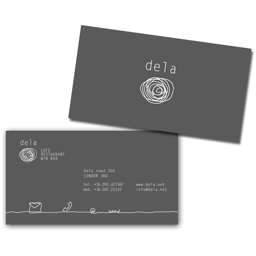 Dela restaurant business card
