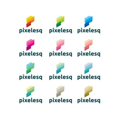 Pixelesq logo design