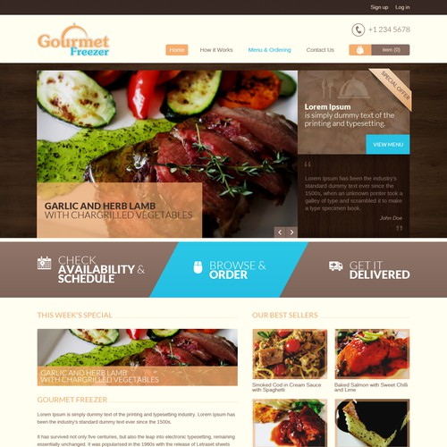 website for meal delivery service