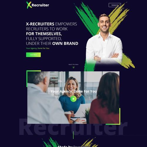 X-Recruiter Landing Page