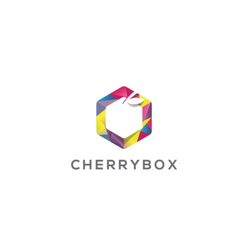 "Modern LOW POLY or FLAT logo for ""CHERRYBOX"" (www.cherrybox.club)"