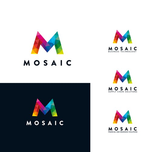 The synergistic logo and branding for Mosaic of companies and services