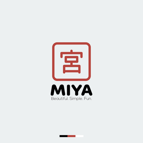 concept logo for miya