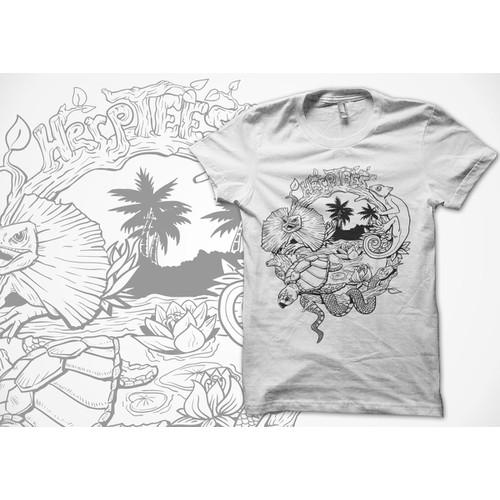 Reptile Collage  T-Shirt design!