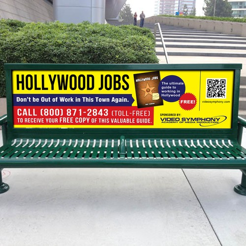 Bus Bench Ad for Video Symphony