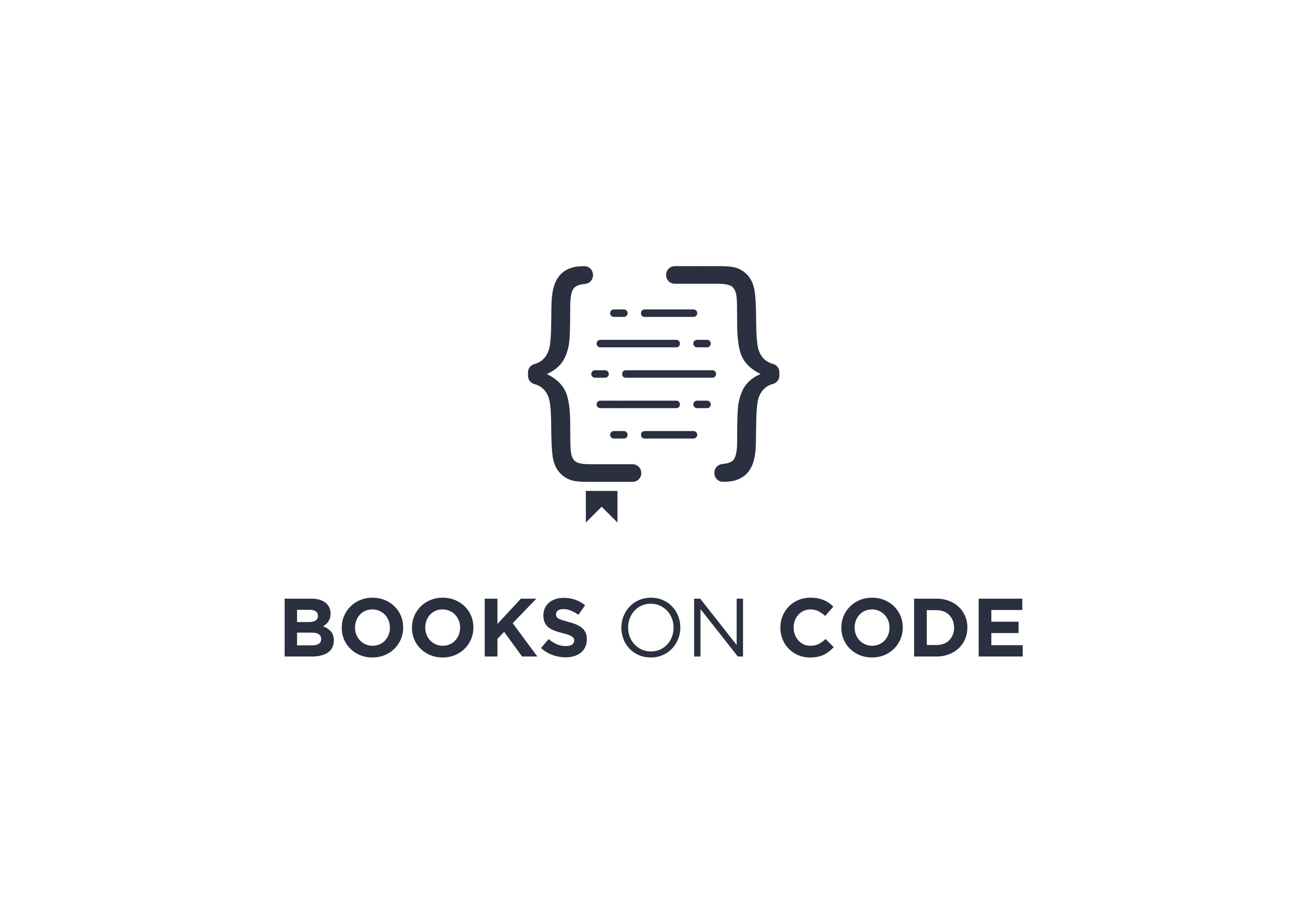 Cozy book-lover logo for cool and intelligent programmers