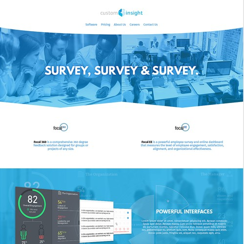 Survey Product Web Design