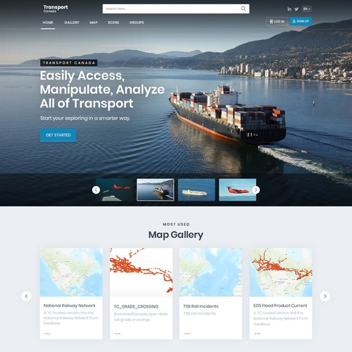 Transport Canada GIS Portal Landing Page