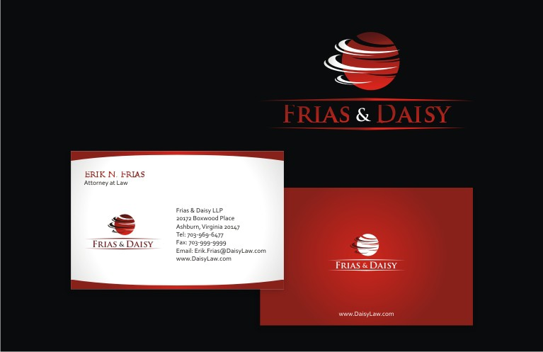 Create the next logo and business card for Frias & Daisy