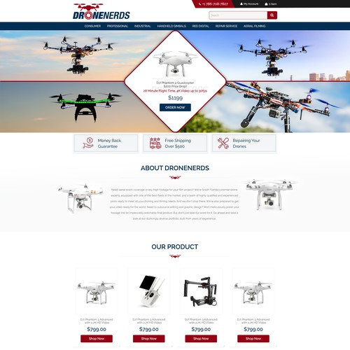 Drone Nerds - Web Design