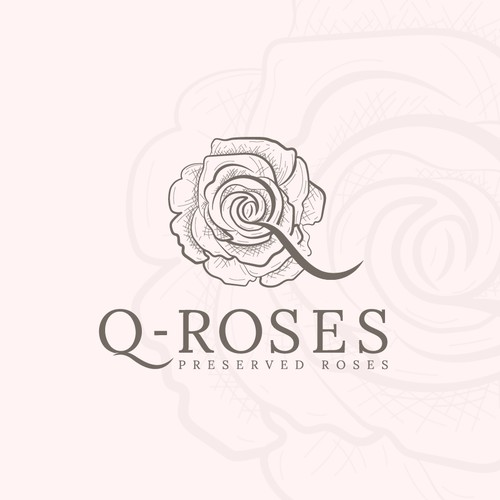 I made this Q-Roses logo design for a Floral Company.