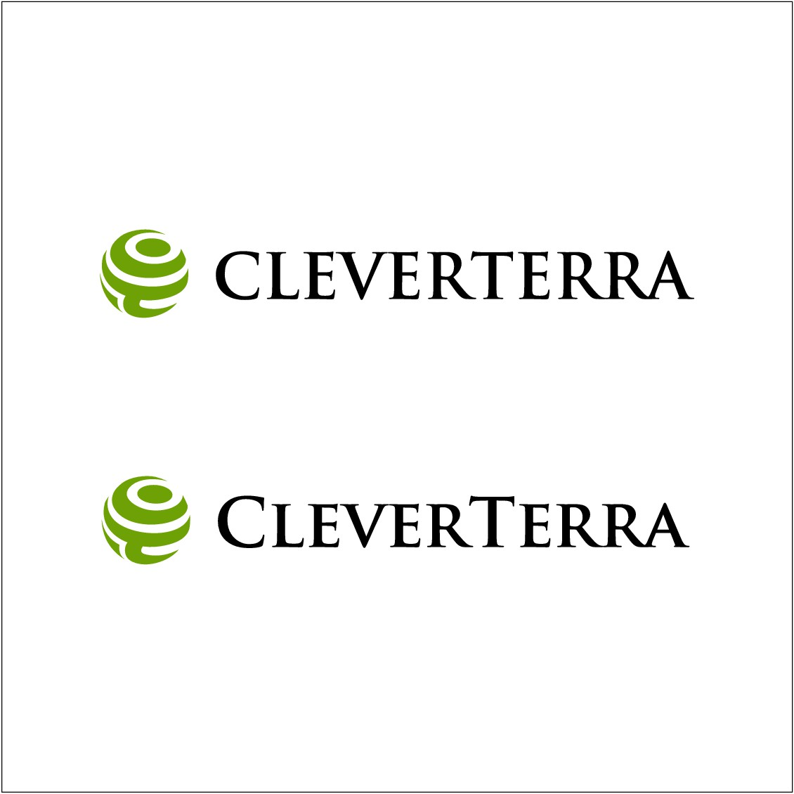 we want to appear like our name CleverTerra mean cleverland.. so an intelligent place, large solid