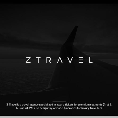 Luxury modern logo design for Z Travel