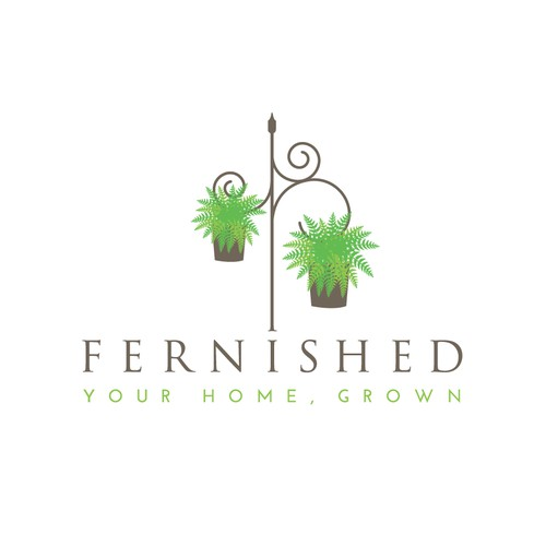 "Create logo/business card for unique plant/furniture company ""Fernished"""