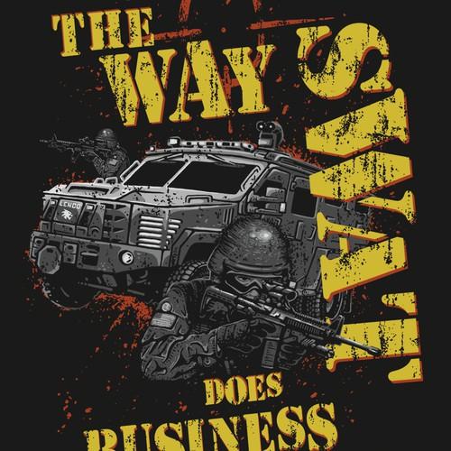 T-shirt design for Lenco Armored Vehicles