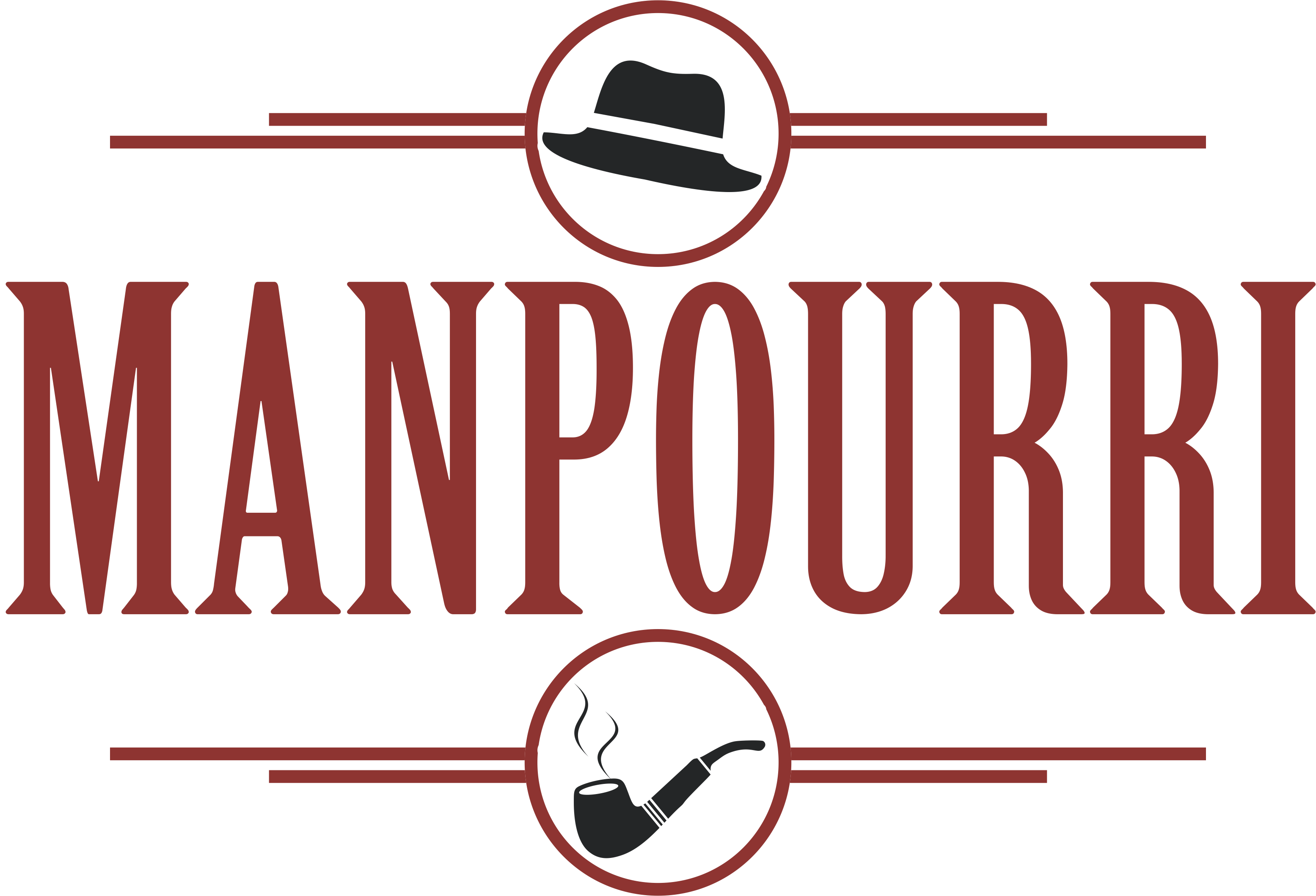 Create a logo for ManPourri. Just like it sounds, it's potpourri for men